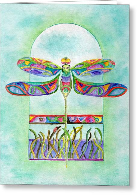 Dragonfly Flight Greeting Card