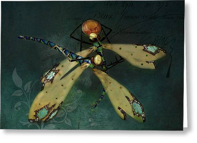 Dragonfly Romance Greeting Card