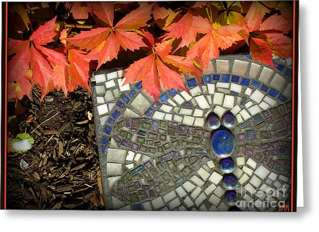 Greeting Card featuring the photograph Dragonfly Stepping Stone by Heidi Manly
