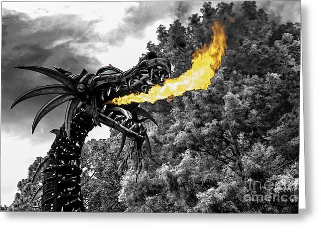 Dragon's Breath -hybrid Greeting Card by Jeffrey Miklush