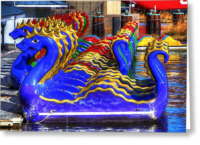 Dragons Greeting Card by David Simons