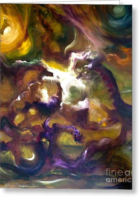 Dragons Greeting Card by Michelle Dommer