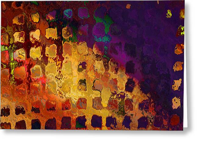 Dragon's Teeth Fire Grate Greeting Card by Constance Krejci