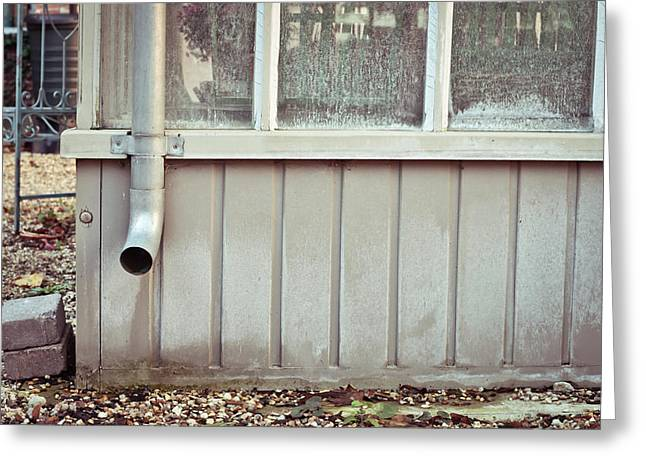 Drain Pipe Greeting Card by Tom Gowanlock