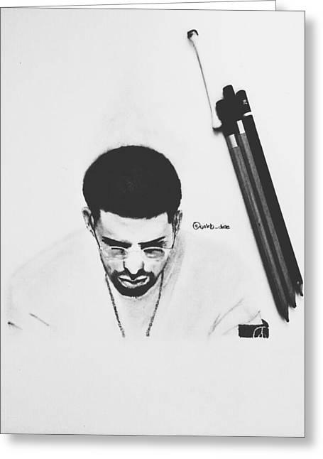 Drake Drawing Greeting Card by Caleb Tony