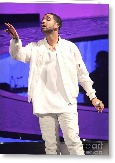 Drake Greeting Card by Concert Photos