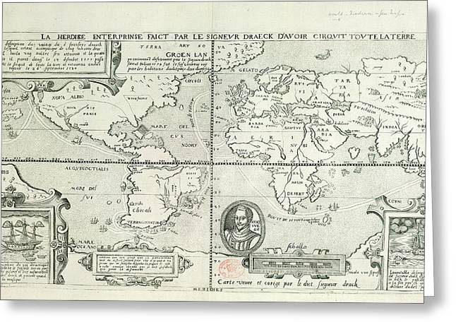 Drake's World Voyage Greeting Card by British Library