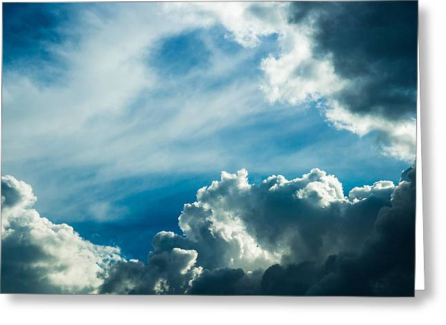 Drama In The Sky Greeting Card by Alexander Senin