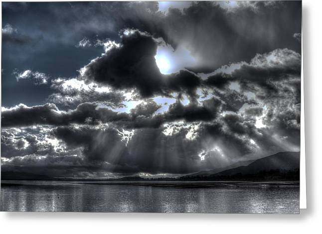 Drama In The Sky Greeting Card by Richard Stephen