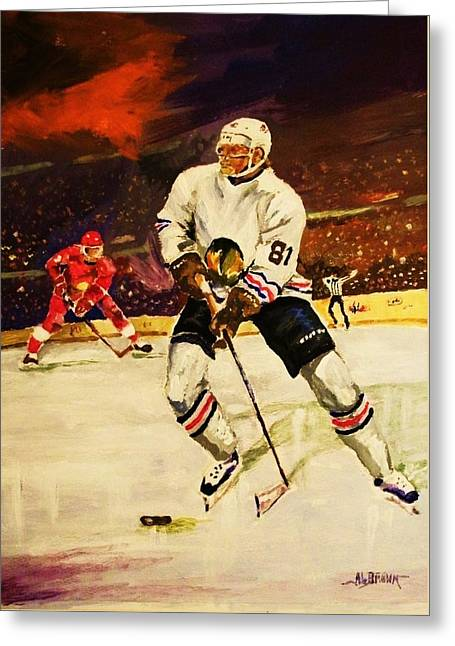 Drama On Ice Greeting Card by Al Brown