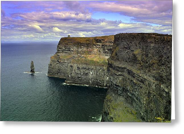 Dramatic Cliffs Of Moher. Greeting Card by Terence Davis