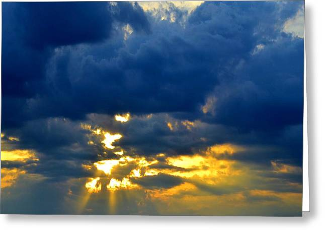 Dramatic Clouds Greeting Card by Luther Fine Art