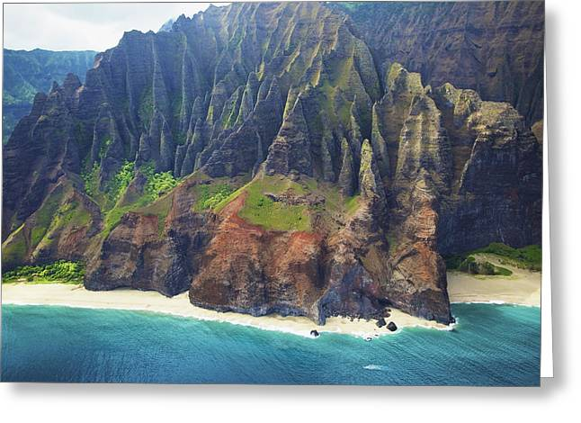 Dramatic Kauai Aerial Greeting Card