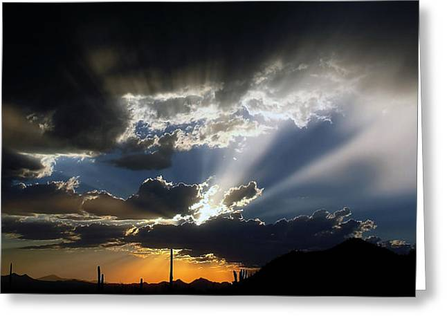 Dramatic Monsoon Sunset Greeting Card