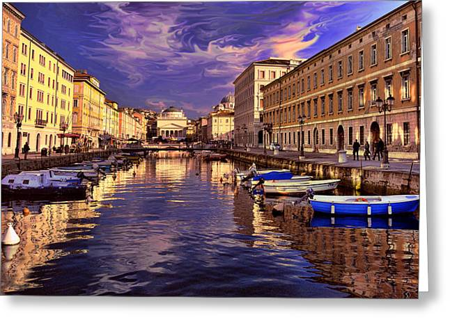 Dramatic Skies Over Trieste Greeting Card