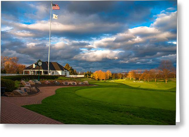 Dramatic Skies Overlooking The Oakland Hills Country Club Golf Course Greeting Card by Optical Playground By MP Ray