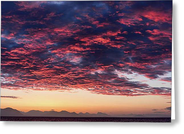 Dramatic Sky During Sunset, Southeast Greeting Card