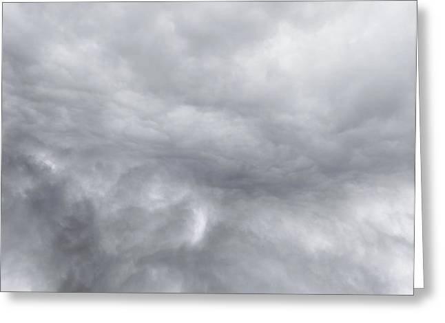 Dramatic Sky Greeting Card by Les Cunliffe