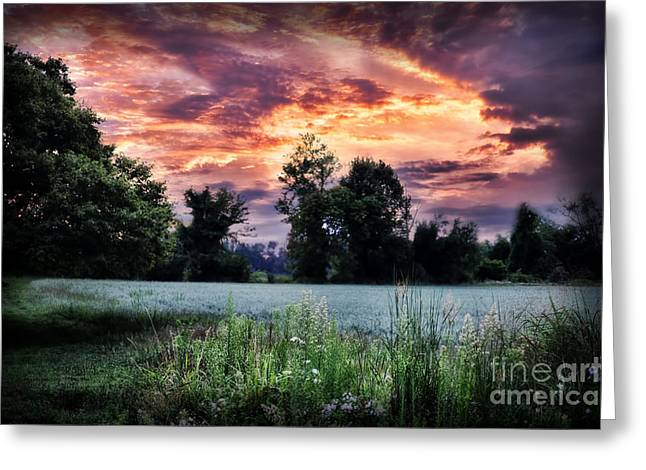Dramatic Sunrise Greeting Card by HD Connelly