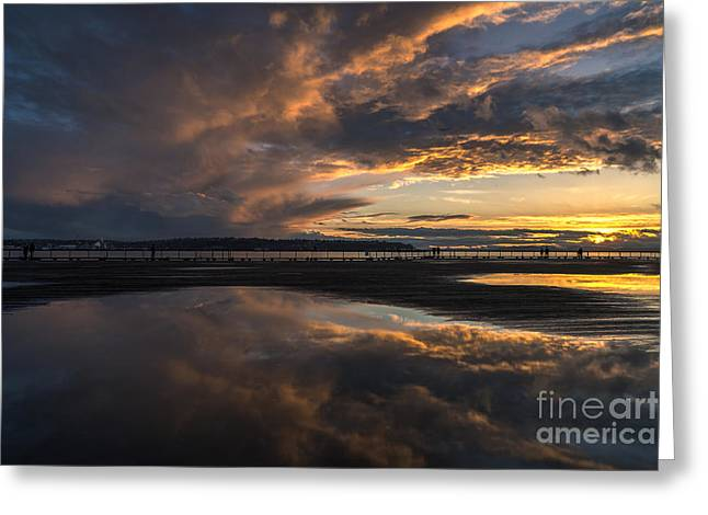 Dramatic Sunset Conclusion Greeting Card
