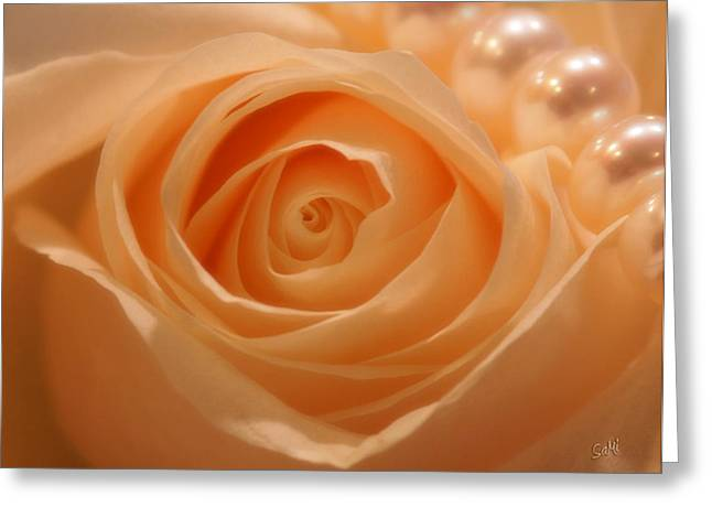 Greeting Card featuring the photograph Draped In Pearls by Sami Martin