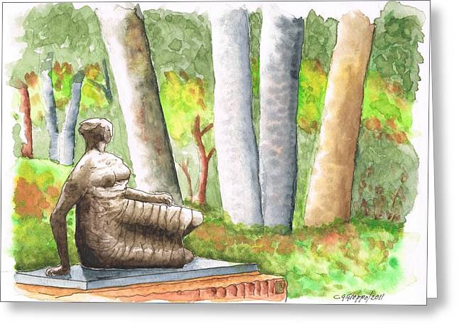 Draped Reclined Woman By Henry Moore - Norton Simon Museum - Pasadena - California Greeting Card