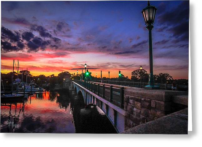 Drawbridge Sundown  Greeting Card