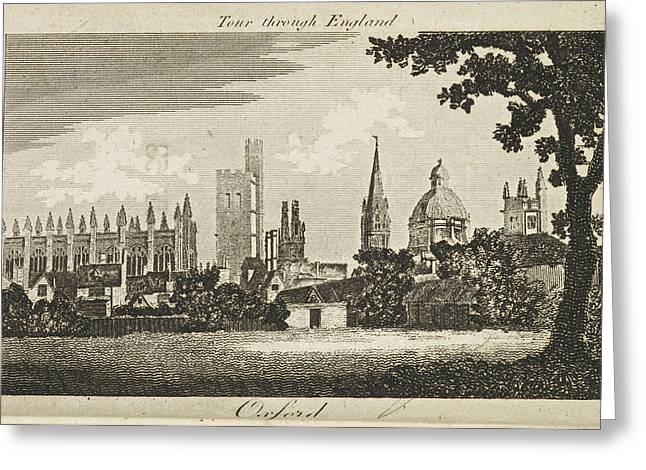 Drawing Of Oxford. Circa 1811 Greeting Card by British Library