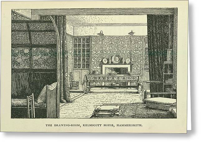 Drawing Room Greeting Card by British Library