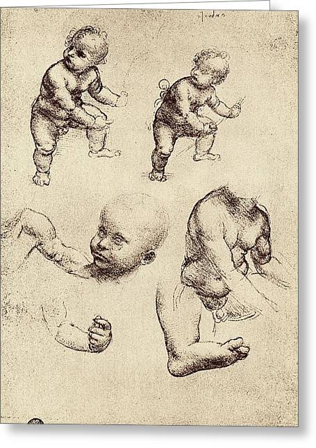 Drawings Of A Child Greeting Card by Sheila Terry