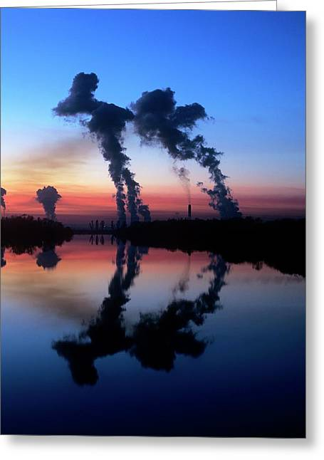 Drax Coal-fired Power Station Greeting Card by Martin Bond
