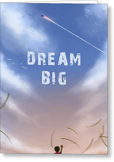 Dream Big Greeting Card by Hiroshi Shih