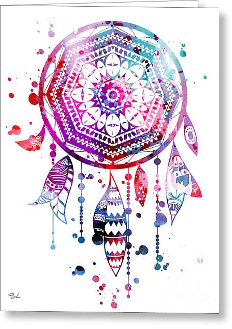 Dream Catcher Greeting Card by Lyubomir Kanelov