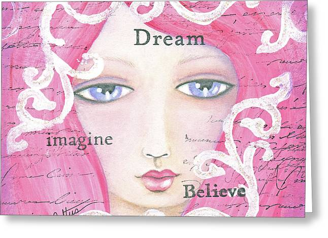 Dream Girl Greeting Card by Joann Loftus