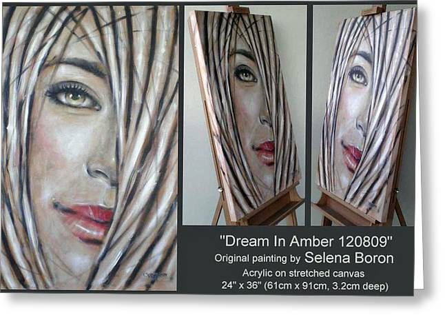 Greeting Card featuring the painting Dream In Amber 120809 Comp by Selena Boron