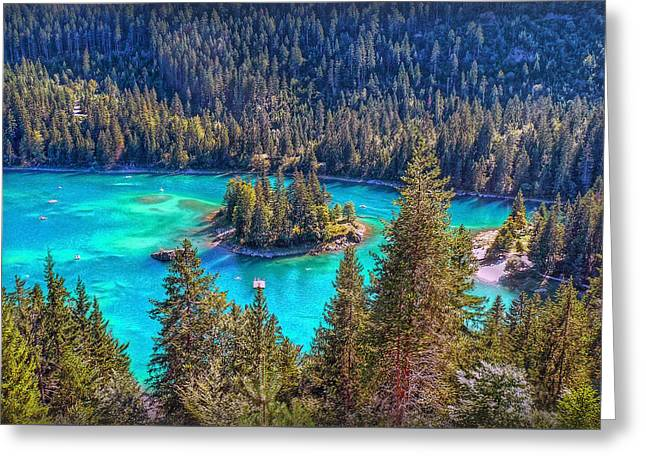 Dream Lake Greeting Card by Hanny Heim