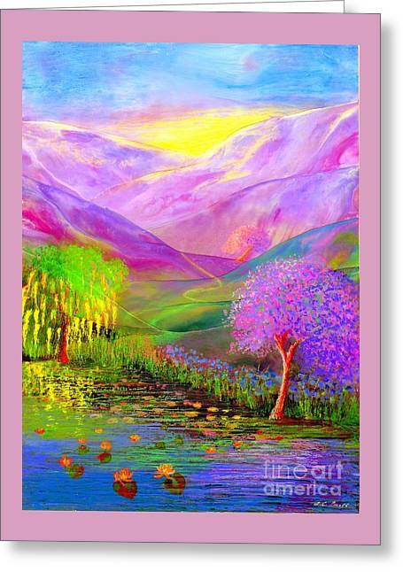Greeting Card featuring the painting Dream Lake by Jane Small