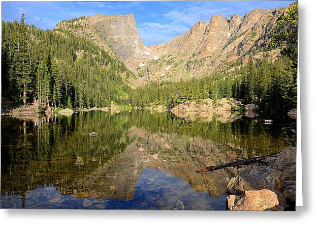 Dream Lake Reflection Greeting Card