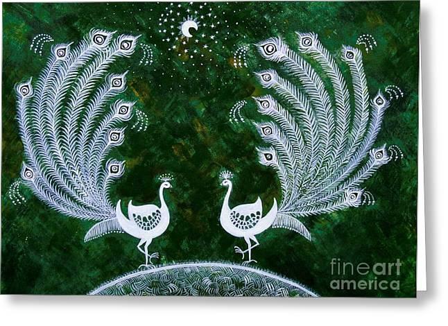 Dream Land Greeting Card by Anjali Vaidya