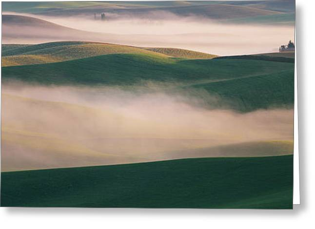 Dream Land In Morning Mist-2 Greeting Card