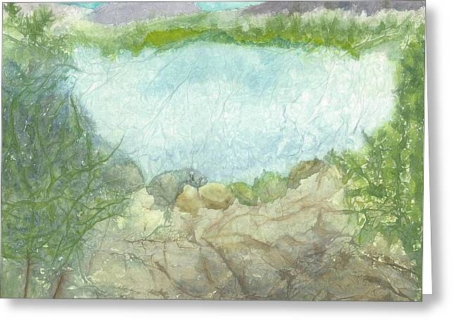 Dream Landscape Greeting Card by Jeanne Hyland-Curtin