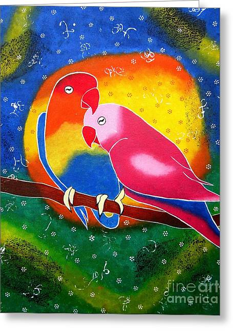 Dream Life-whimsical Painting Greeting Card by Priyanka Rastogi