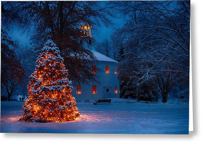 Christmas At The Richmond Round Church Greeting Card