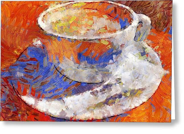 Dream Of Cofee Greeting Card by Yury Malkov