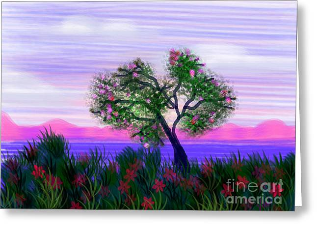 Dream Of Spring Greeting Card by Judy Via-Wolff