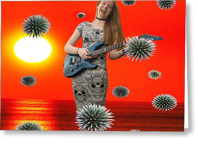 Dream Rock An Roll  Greeting Card by Eric Kempson