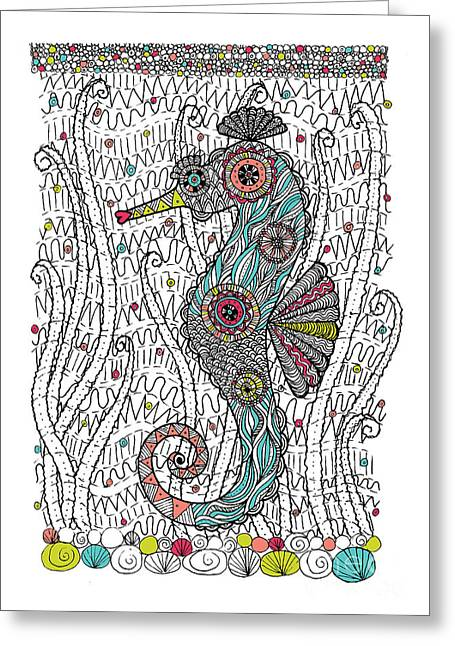 Dream Seahorse Greeting Card by Susan Claire