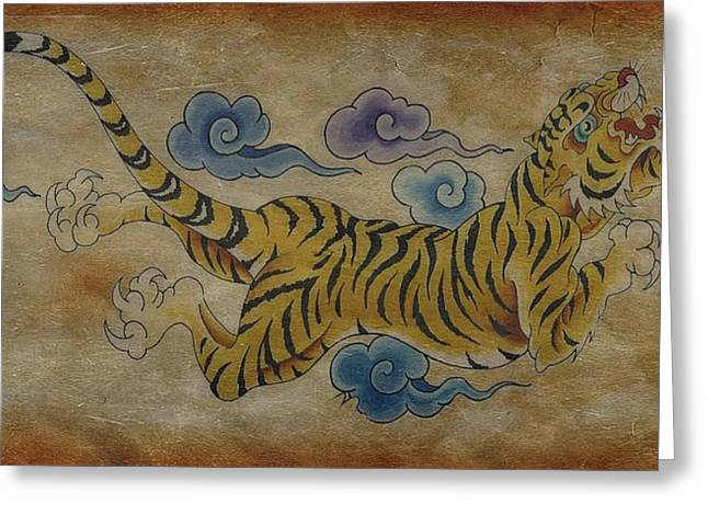 Dream Tiger  Greeting Card by Larry Mora