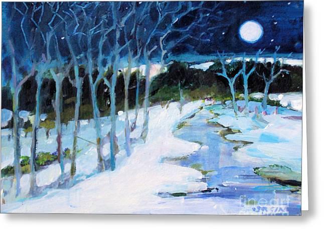 Dream Winter Greeting Card by Diane Ursin