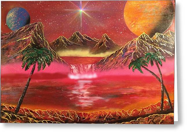Greeting Card featuring the painting Dream World by Michael Rucker